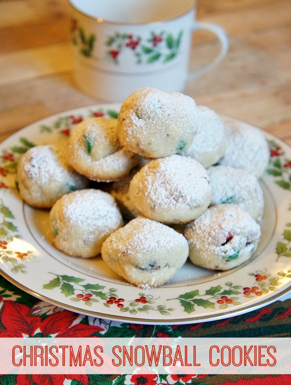 Easy Christmas Cookies Pinterest  Easy Homemade Christmas Snowball Cookies Recipe The
