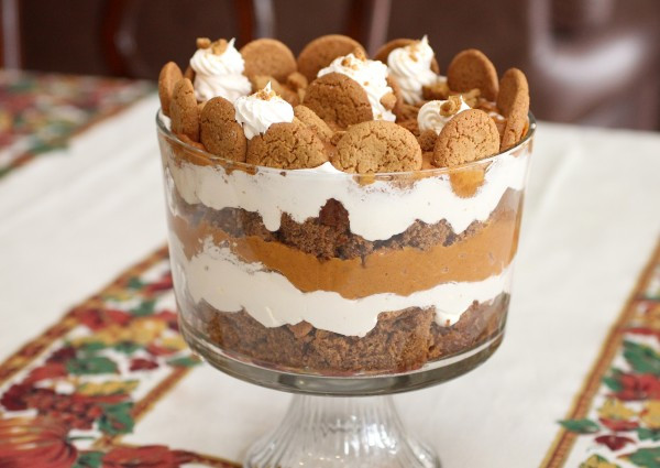 Easy Christmas Dessert Recipes  Holiday Pumpkin Gingerbread Trifle – A Simple Holiday