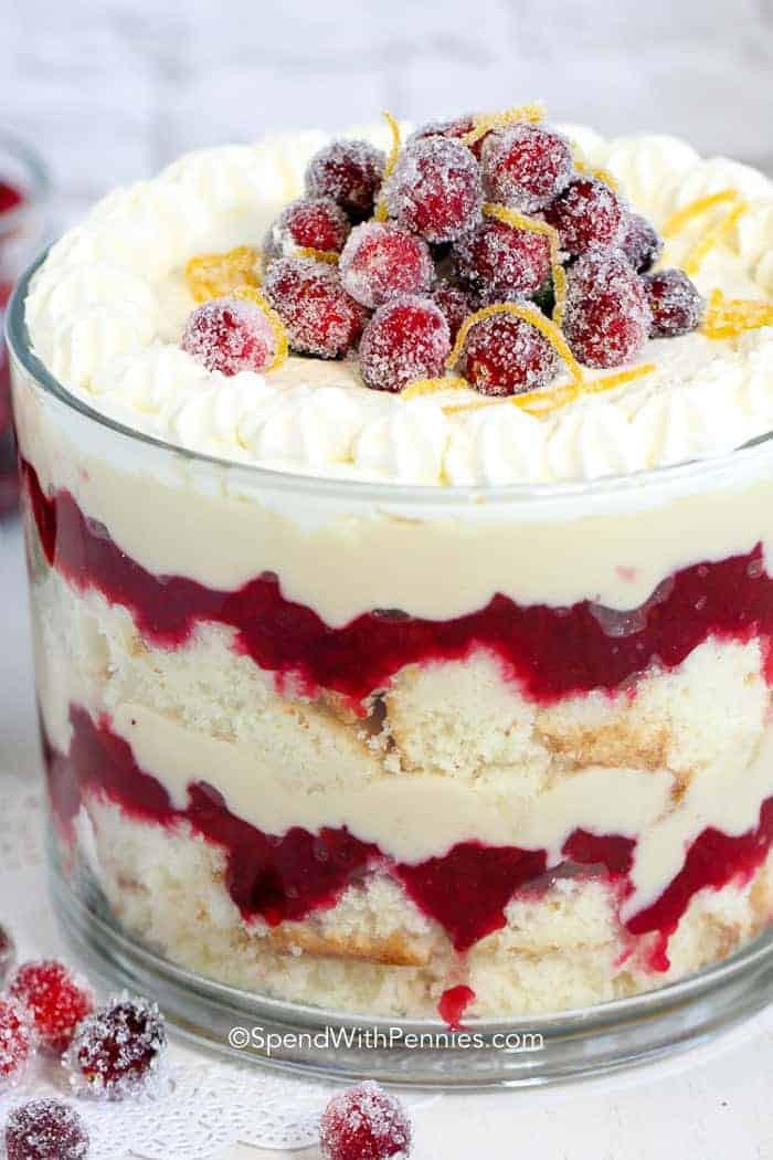 Easy Christmas Dessert Recipes  Cranberry Trifle Dessert Gorgeous & Delicious Spend