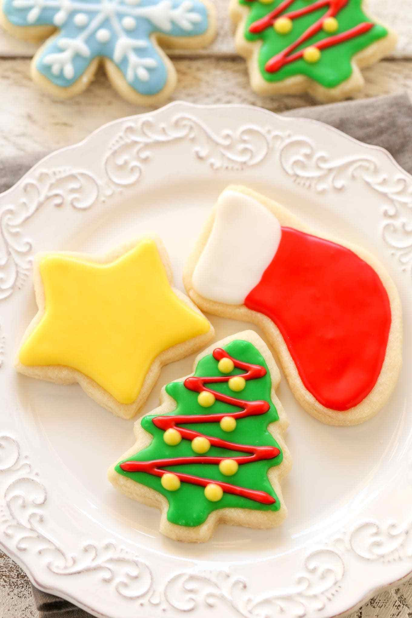 Easy Decorative Christmas Cookies  Soft Christmas Cut Out Sugar Cookies Live Well Bake ten