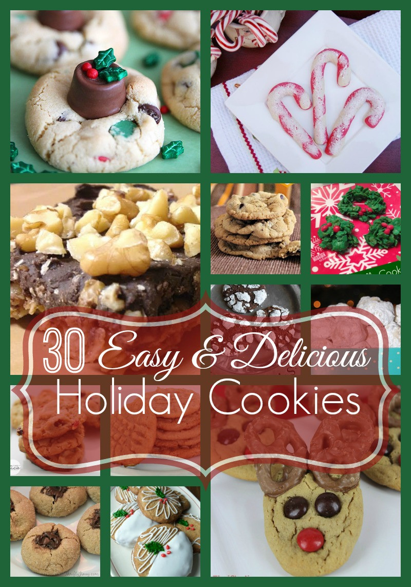 Easy Delicious Christmas Cookies  30 Easy and Delicious Holiday Cookies
