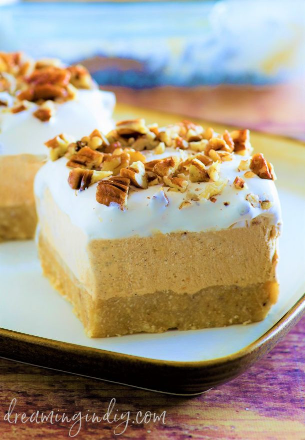 Easy Fall Dessert Recipes  Pumpkin Spice Lush – Easy No Bake Layered Dessert Recipe