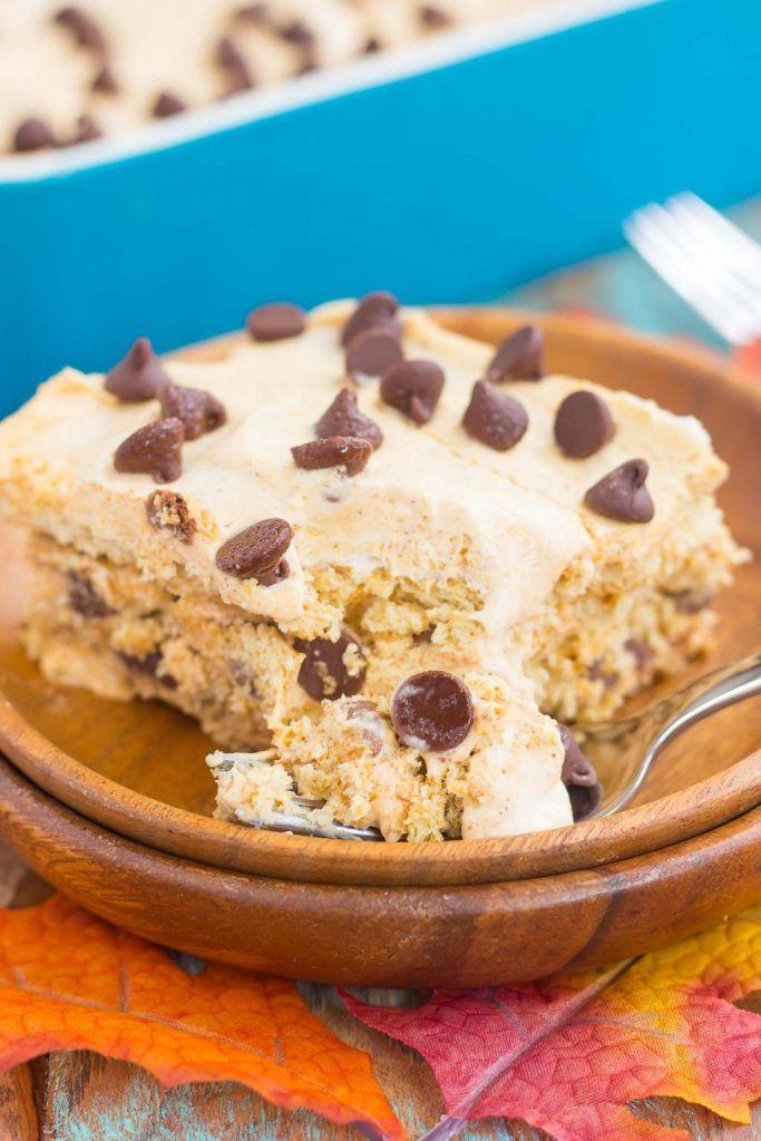 Easy Fall Dessert Recipes  No Bake Pumpkin Chocolate Chip Icebox Cake