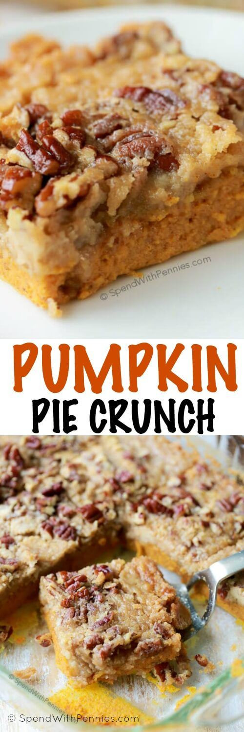 Easy Fall Desserts For A Crowd  Pumpkin Pie Crunch is the easiest way to serve pumpkin pie