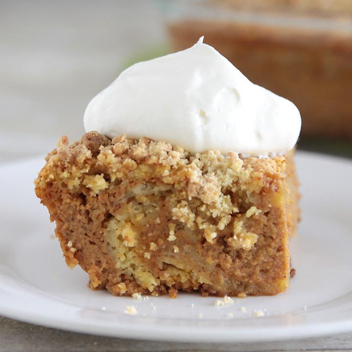 Easy Fall Desserts For A Crowd  easy pumpkin pie cake recipe better than pumpkin pie