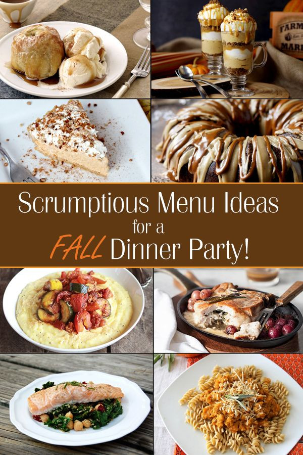 Easy Fall Dinner Recipes  Fall Dinner Party Menu Ideas Ideas for throwing a fall