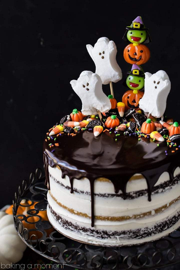 Easy Halloween Cakes Ideas  Pumpkin Chocolate Halloween Cake Baking A Moment