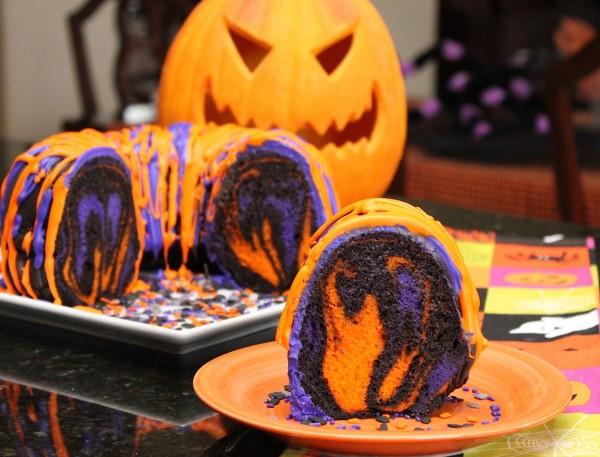 Easy Halloween Cakes Ideas  Amazing Halloween Rainbow Party Bundt Cake Recipe