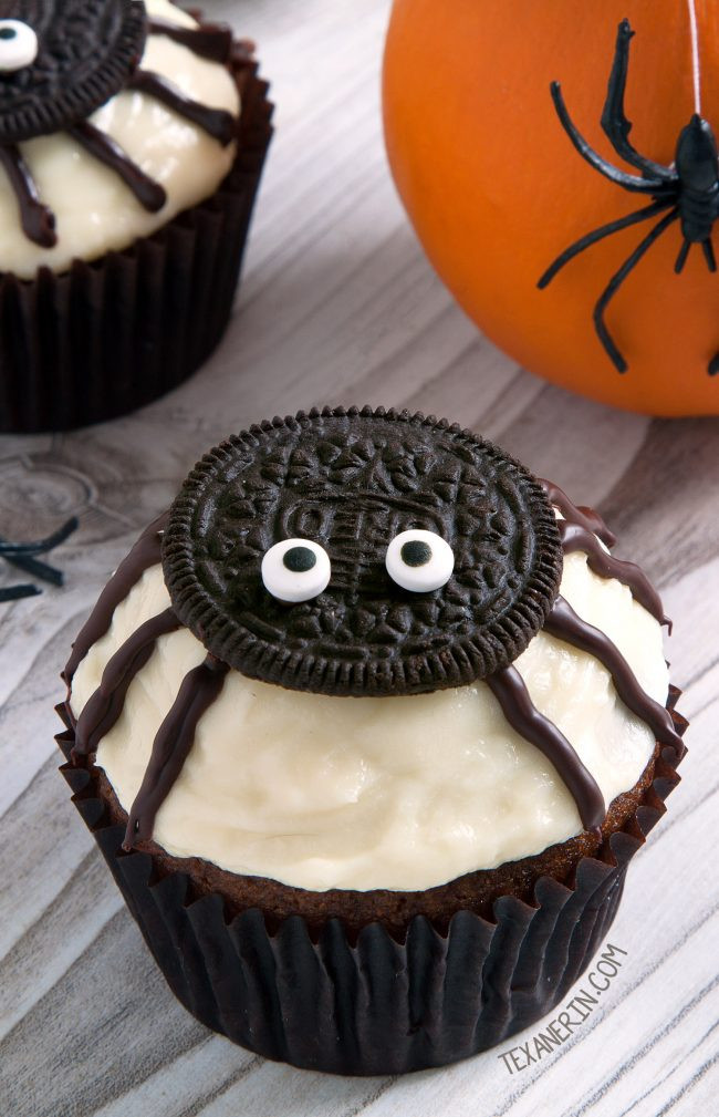 Easy Halloween Cakes Ideas  Spider Cupcakes for Halloween gluten free grain free