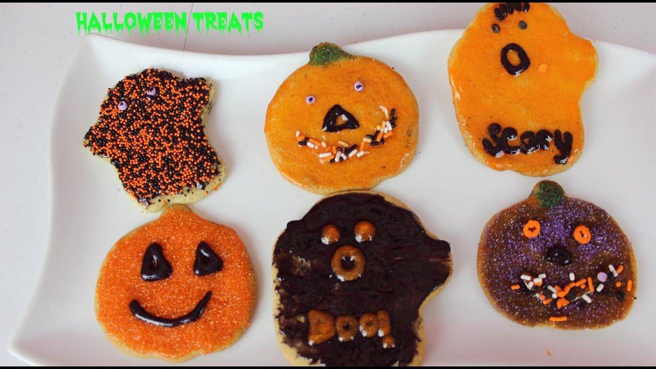 Easy Halloween Cookies  Pumpkin & Ghosts Halloween Cookies Easy Halloween Treats