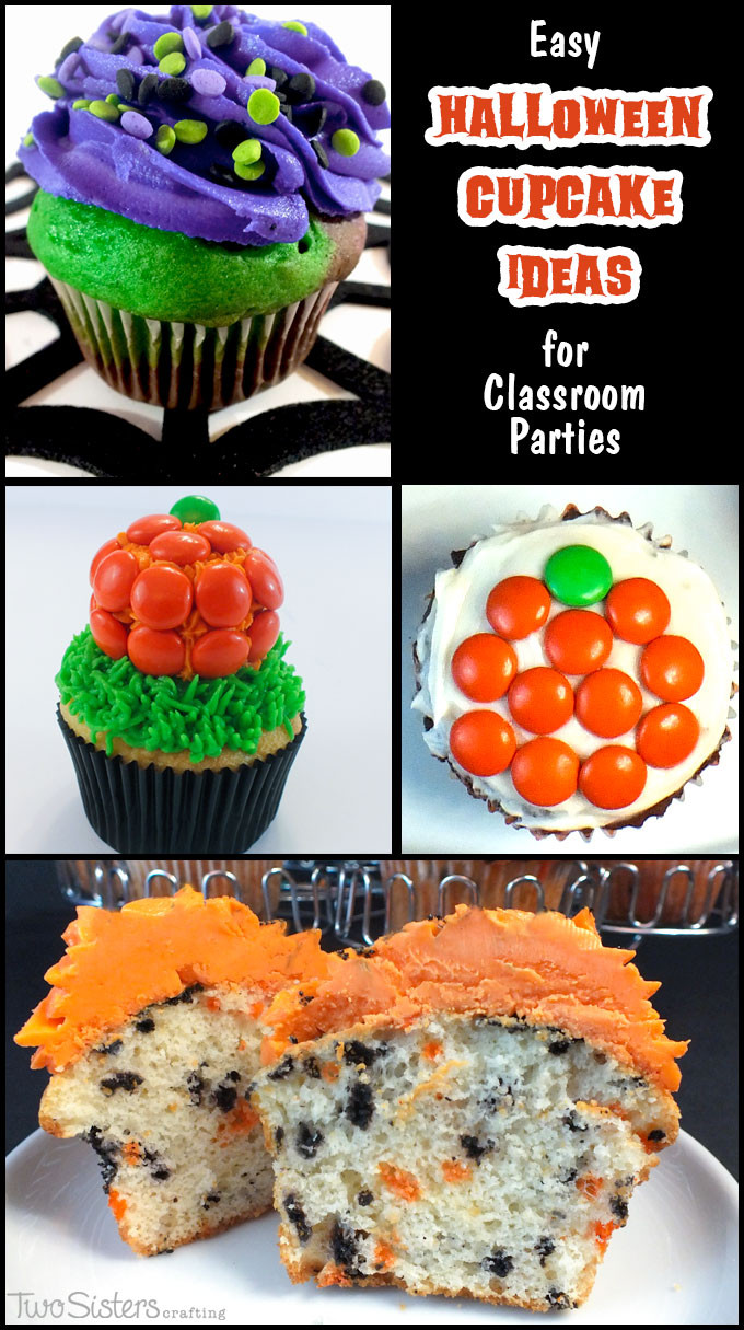 Easy Halloween Cupcakes Decorations  Easy Halloween Cupcake Ideas Two Sisters