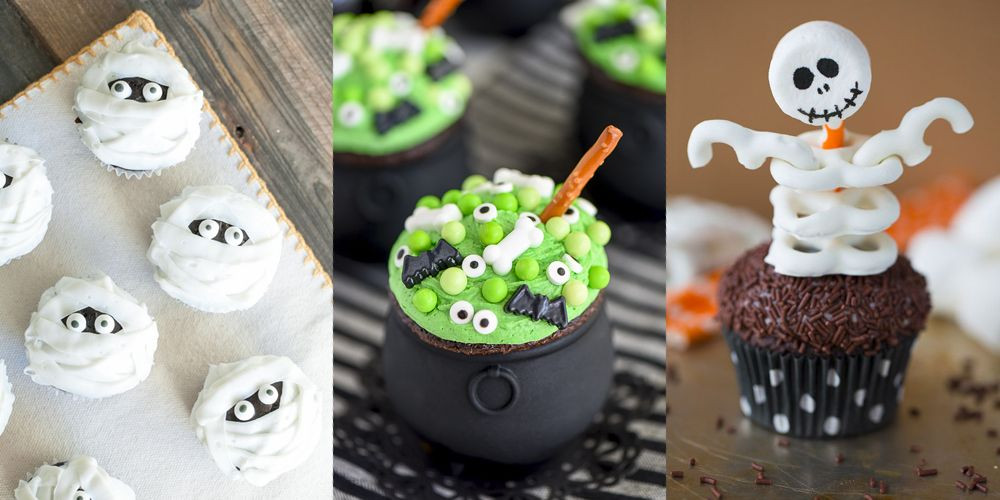 Easy Halloween Cupcakes For School  31 Cute Halloween Cupcakes Easy Recipes for Halloween
