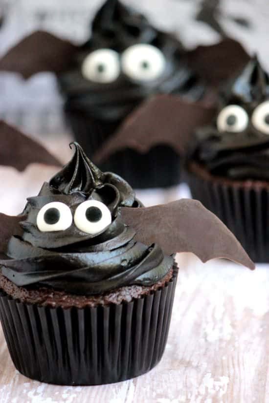 Easy Halloween Cupcakes For School  Easy Bat Cupcakes A Cedar Spoon