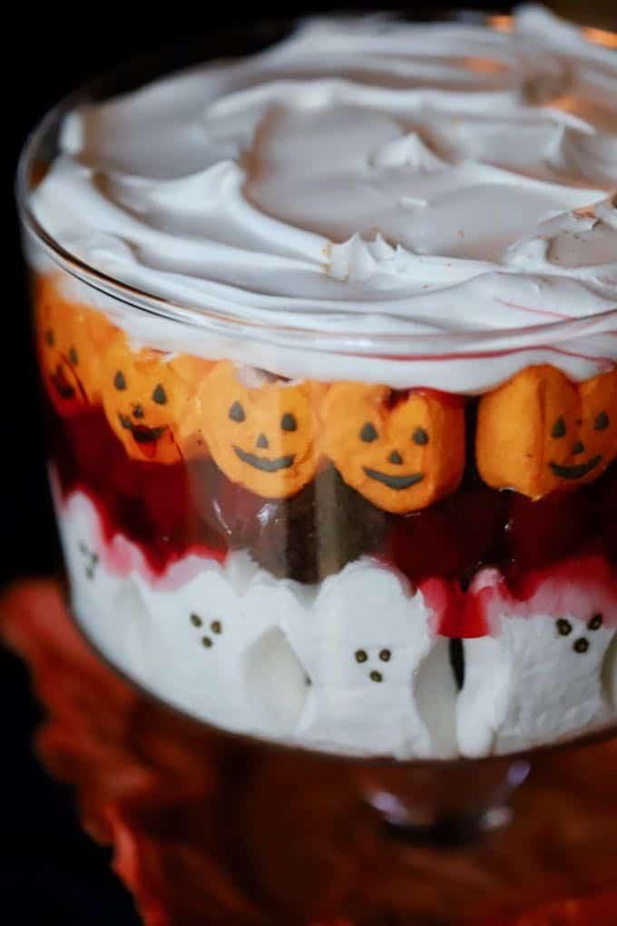 Easy Halloween Desserts  Easy Halloween Black Forest Trifle