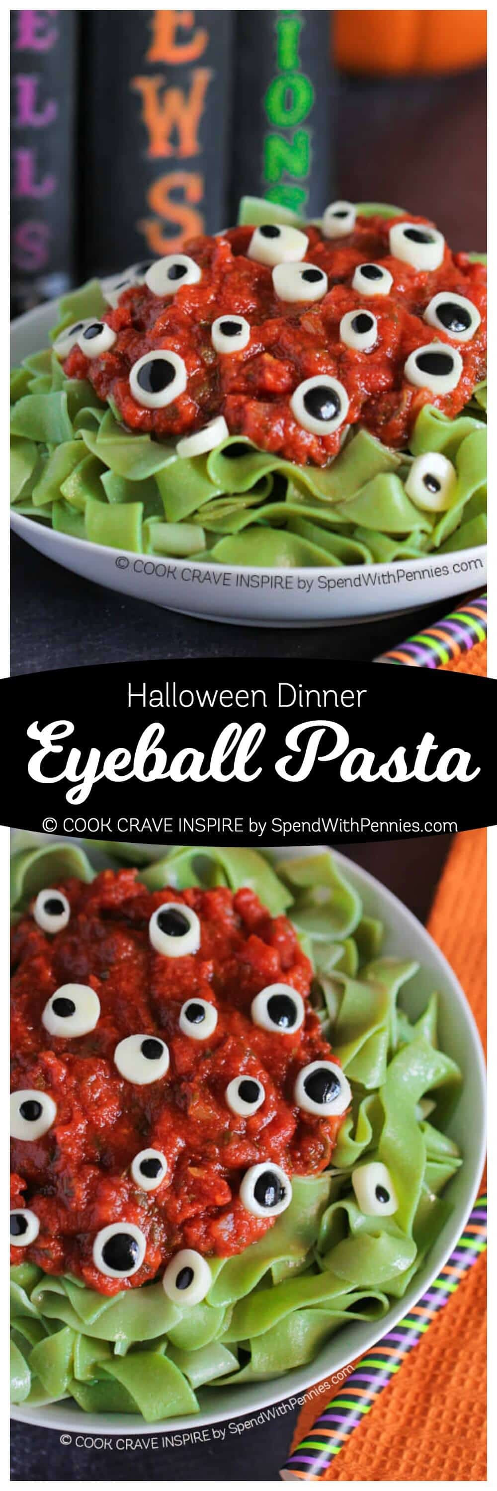 Easy Halloween Dinners  Eyeball Pasta Halloween Dinner Idea Spend With Pennies