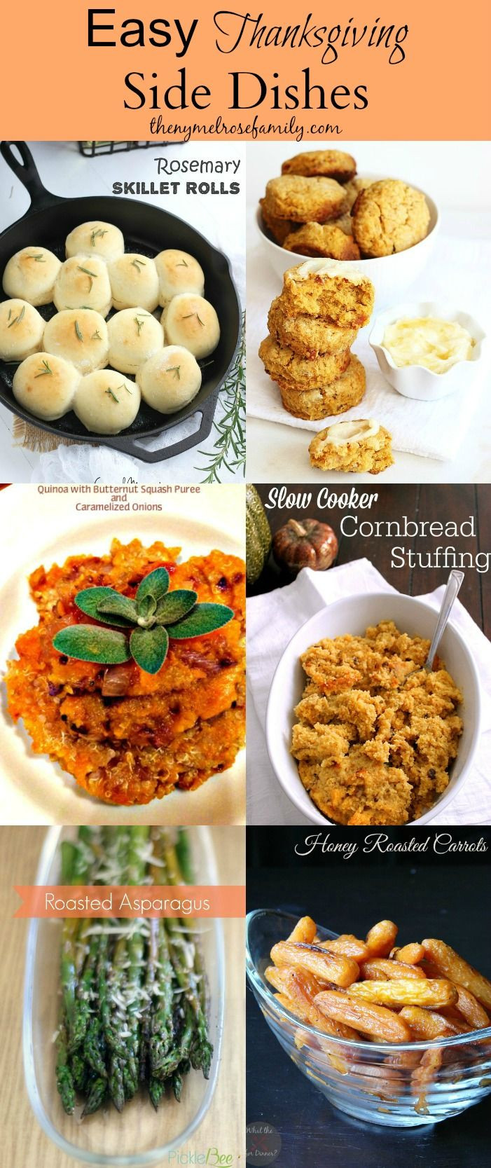 Easy Side Dishes For Thanksgiving  199 best images about Easy Thanksgiving Recipes & Crafts