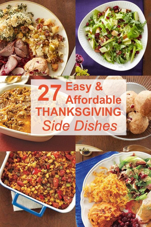Easy Side Dishes For Thanksgiving Meal  33 Easy Thanksgiving Side Dishes