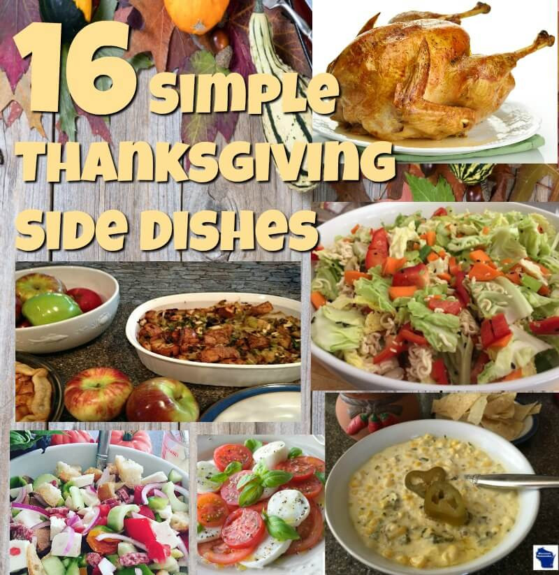 Easy Side Dishes For Thanksgiving Meal  Simple Thanksgiving Side Dishes