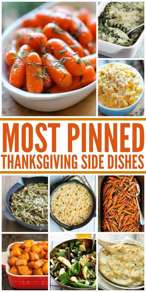 Easy Side Dishes For Thanksgiving Meal  Best 25 Recipes For Thanksgiving ideas on Pinterest