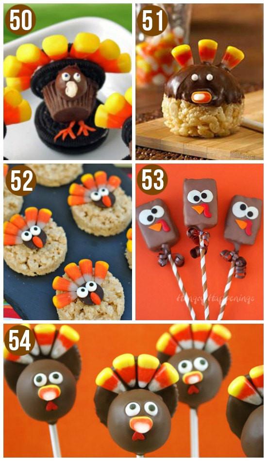 Easy Thanksgiving Desserts For Kids  50 Turkey Treats Fun Thanksgiving Food Ideas