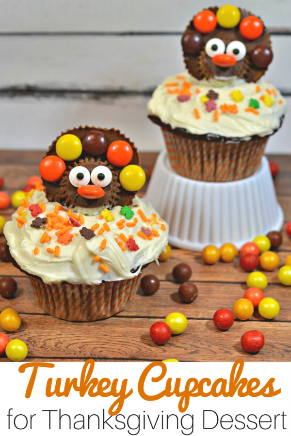 Easy Thanksgiving Desserts For Kids  Turkey Cupcakes for Your Thanksgiving Feast
