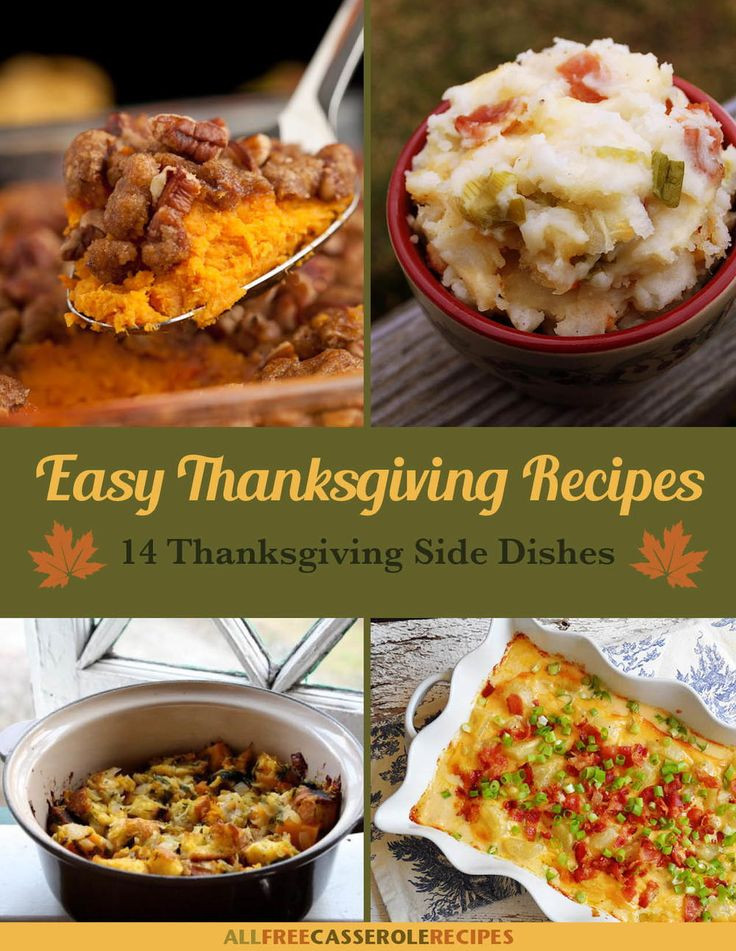 Easy Thanksgiving Side Dishes  480 best Thanksgiving Recipes images on Pinterest