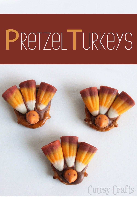 Easy Thanksgiving Turkey  Pretzel Turkey Treats Thanksgiving