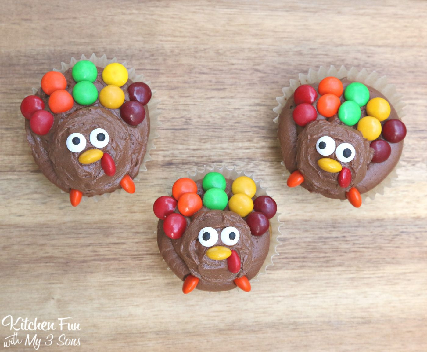 Easy Thanksgiving Turkey  Turkey Cupcakes for Thanksgiving Kitchen Fun With My 3 Sons