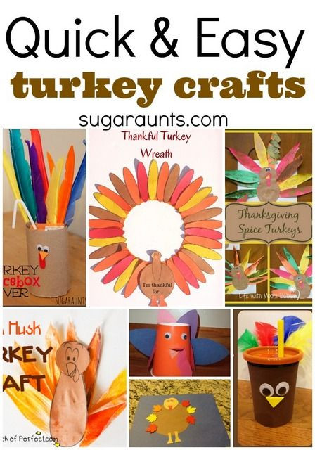 Easy Thanksgiving Turkey  Quick and Easy Turkey Crafts Pinterest