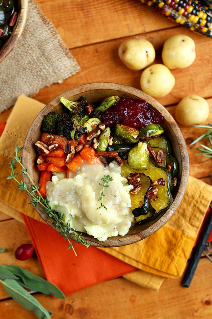 Easy Vegetarian Thanksgiving Recipes  Roasted Vegan Thanksgiving Bowl I LOVE VEGAN