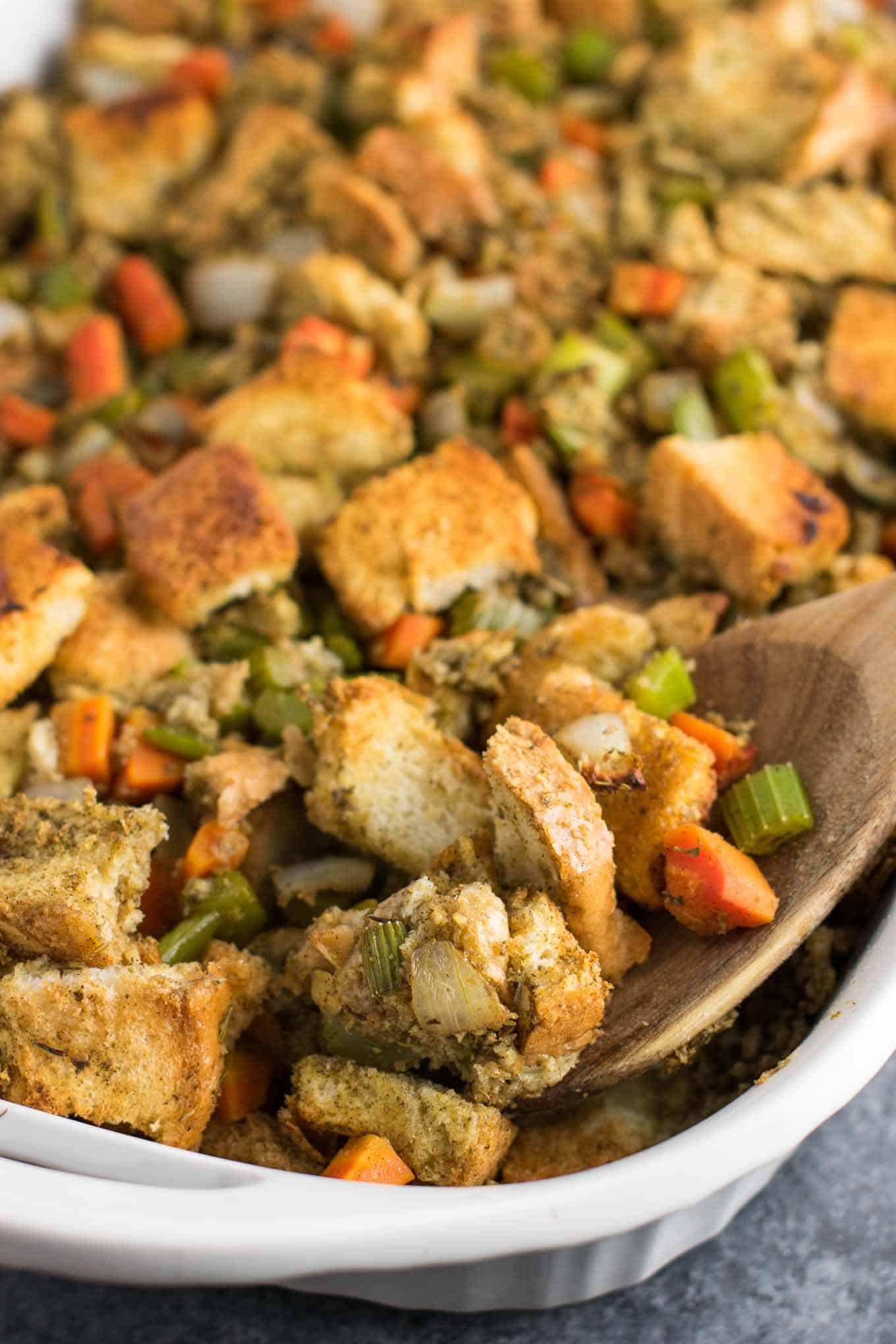 Easy Vegetarian Thanksgiving Recipes  Easy Vegan Stuffing Recipe gluten free dairy free
