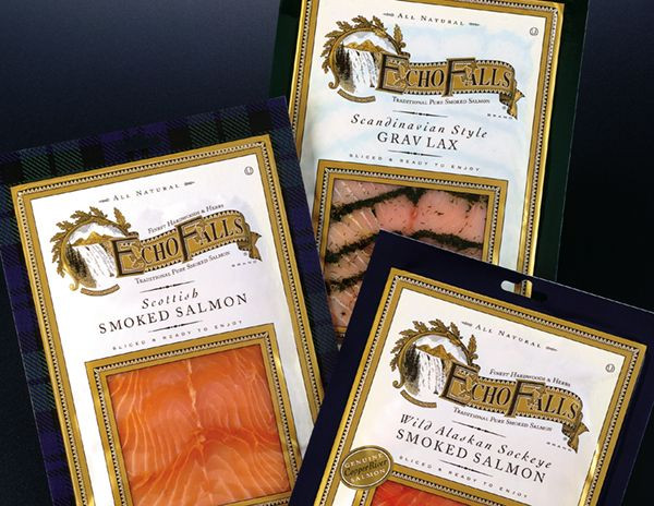 Echo Falls Smoked Salmon  144 best images about Seafood Packaging on Pinterest