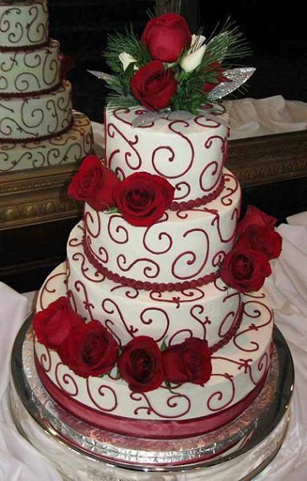 Elegant Christmas Cakes  25 Breathtaking Christmas Wedding Ideas Wedding