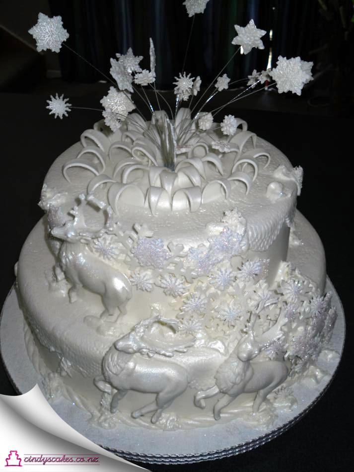 Elegant Christmas Cakes  Elegant Christmas Cake Wel e to Cindys Cakes
