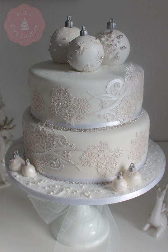 Elegant Christmas Cakes  Christmas Wedding cake by Paulacakecouture CakesDecor