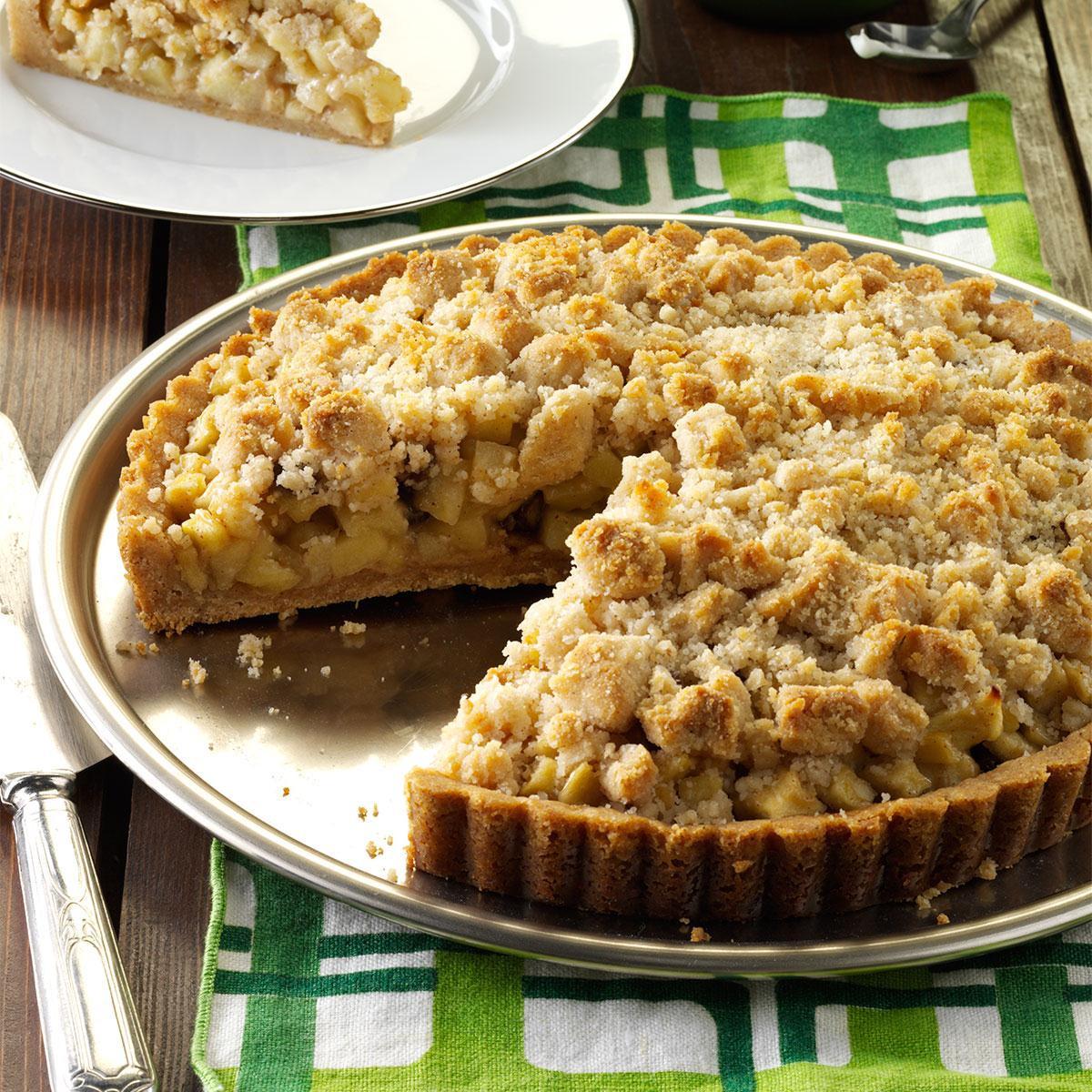 Fall Apple Recipes  Apple Crumb Tart with Cinnamon Cream Recipe