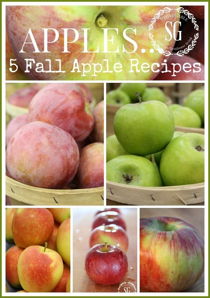 Fall Apple Recipes  APPLES FIVE FALL APPLE RECIPES StoneGable