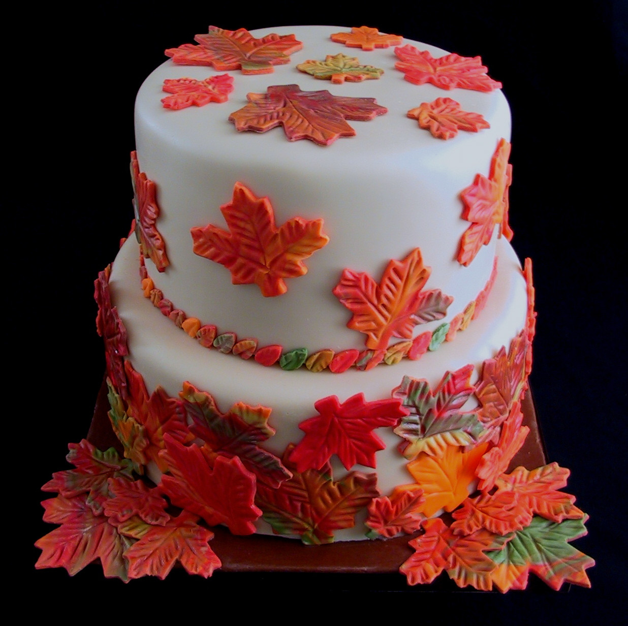 Fall Birthday Cake  fall
