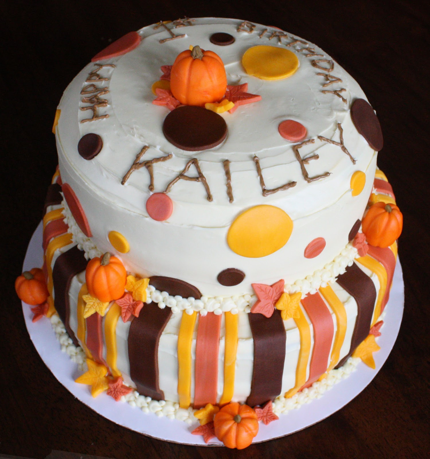 Fall Birthday Cake  Straight to Cake 1st Birthday Fall Theme
