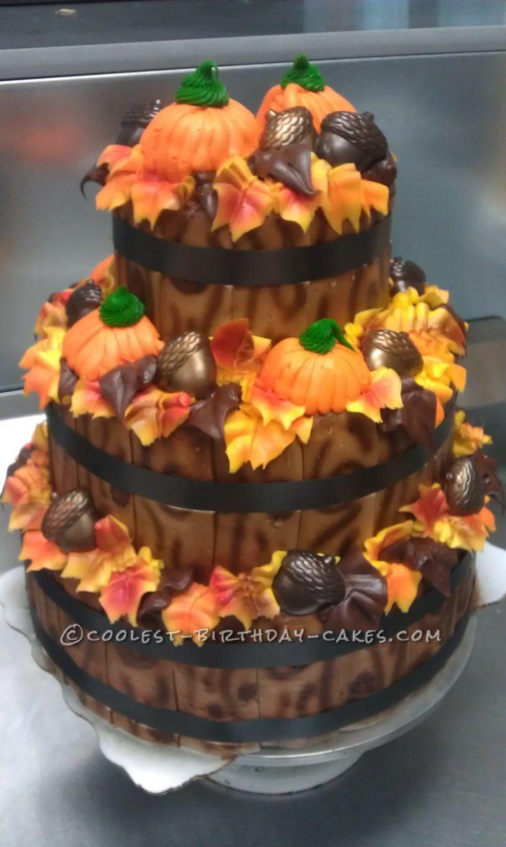 Fall Birthday Cake Ideas  Fall Time Display Cake