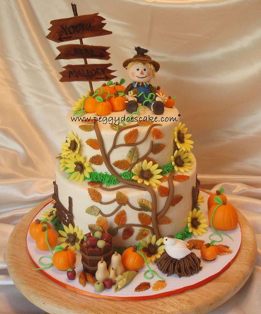 Fall Birthday Cake Ideas  Harvest Cake by peggyslee via Flickr