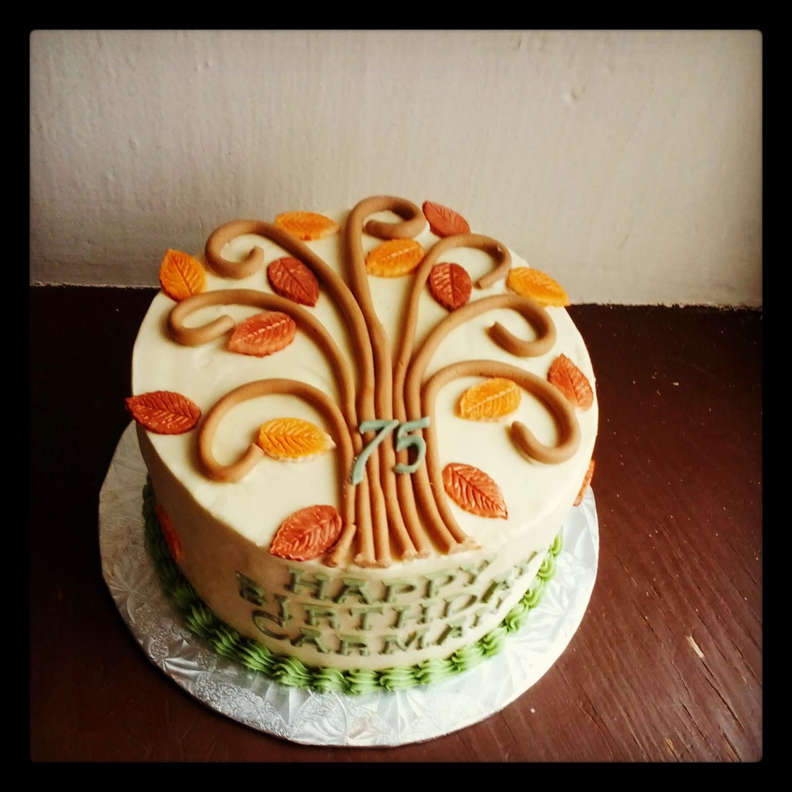 Fall Birthday Cake Ideas  Second Generation Cake Design Fall Themed Birthday Cake