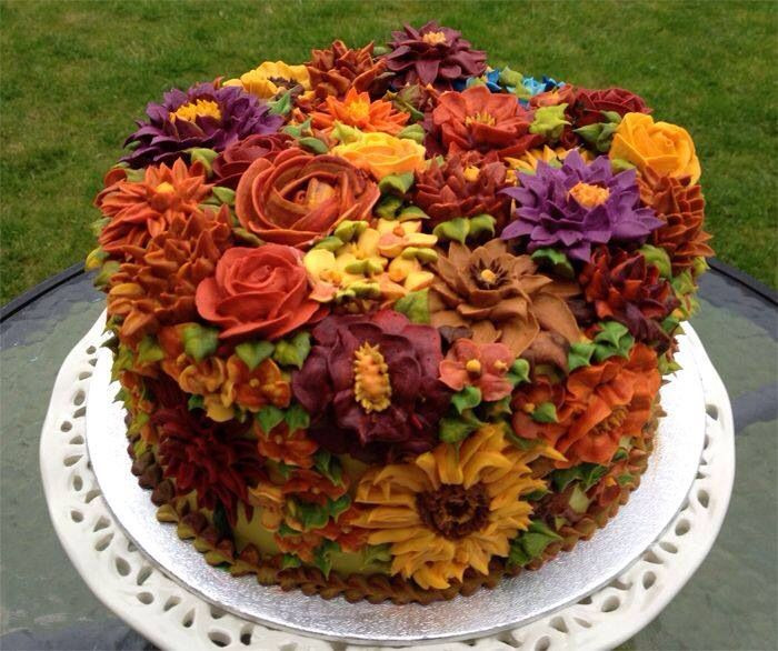 Fall Birthday Cake Ideas  Fall cake Sweets Pinterest