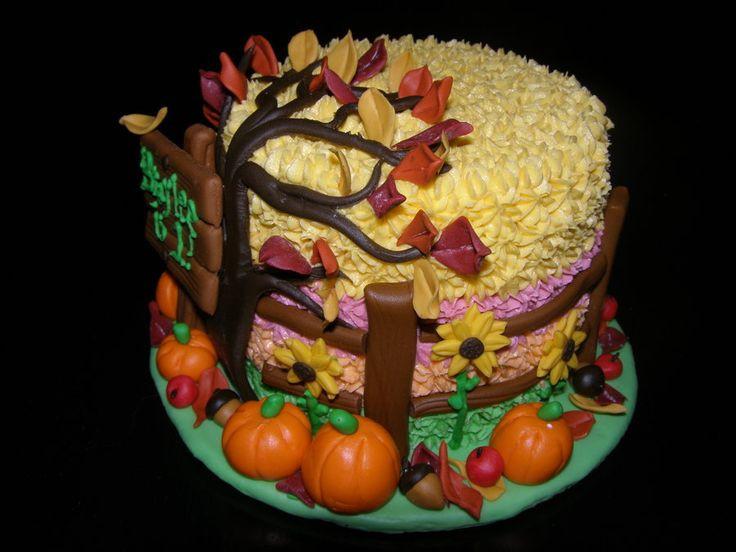Fall Birthday Cake Ideas  Best 25 Fall theme cakes ideas on Pinterest
