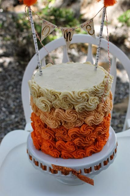 Fall Birthday Cake Ideas  Fall themed first birthday cake
