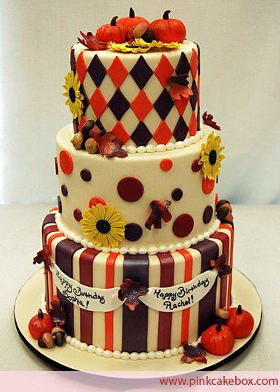 Fall Birthday Cake Ideas  1000 ideas about Autumn Cake on Pinterest