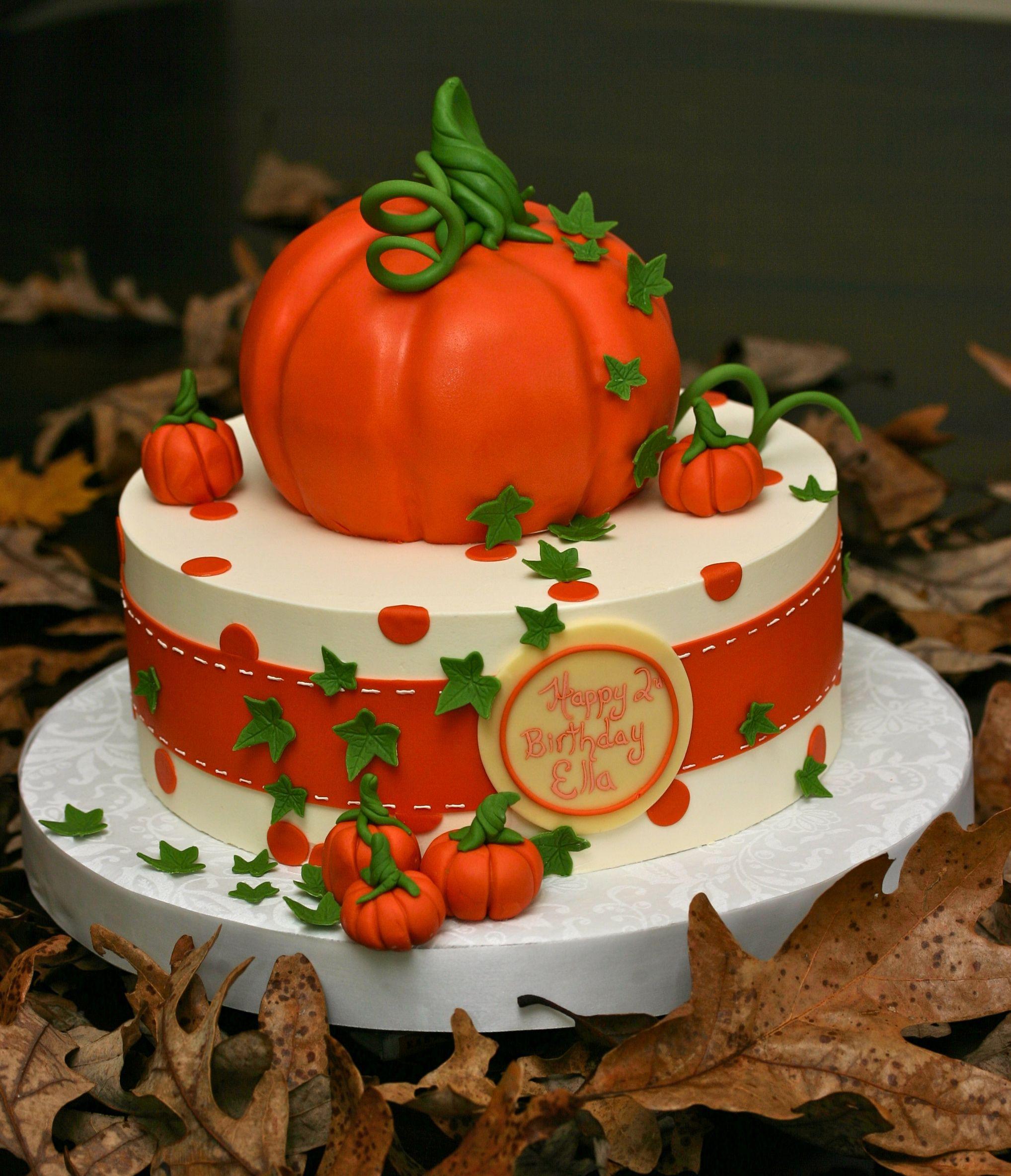 Fall Birthday Cake Ideas  Fall Harvest cake Thanksgiving Cakes