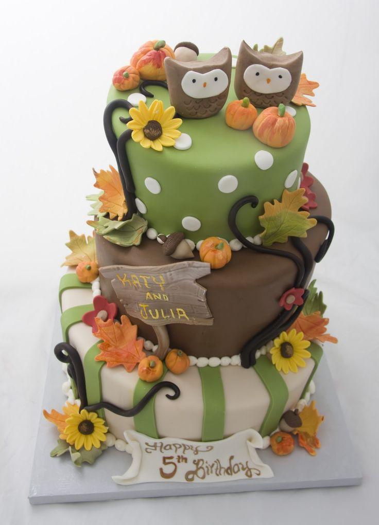 Fall Birthday Cake Ideas  10 ideas about Fall Birthday Cakes on Pinterest