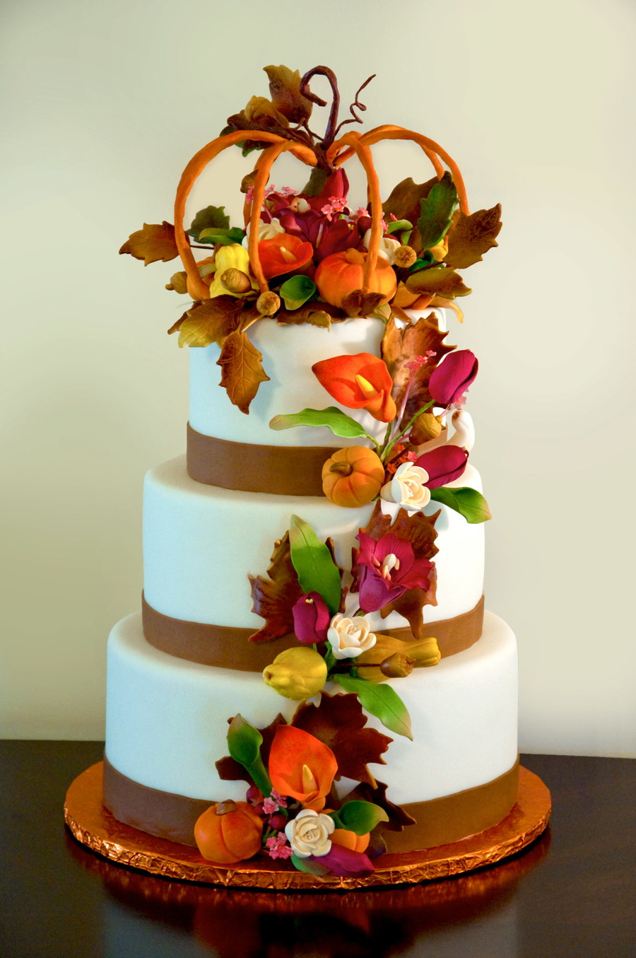 Fall Birthday Cake  Fall Cake CakeCentral