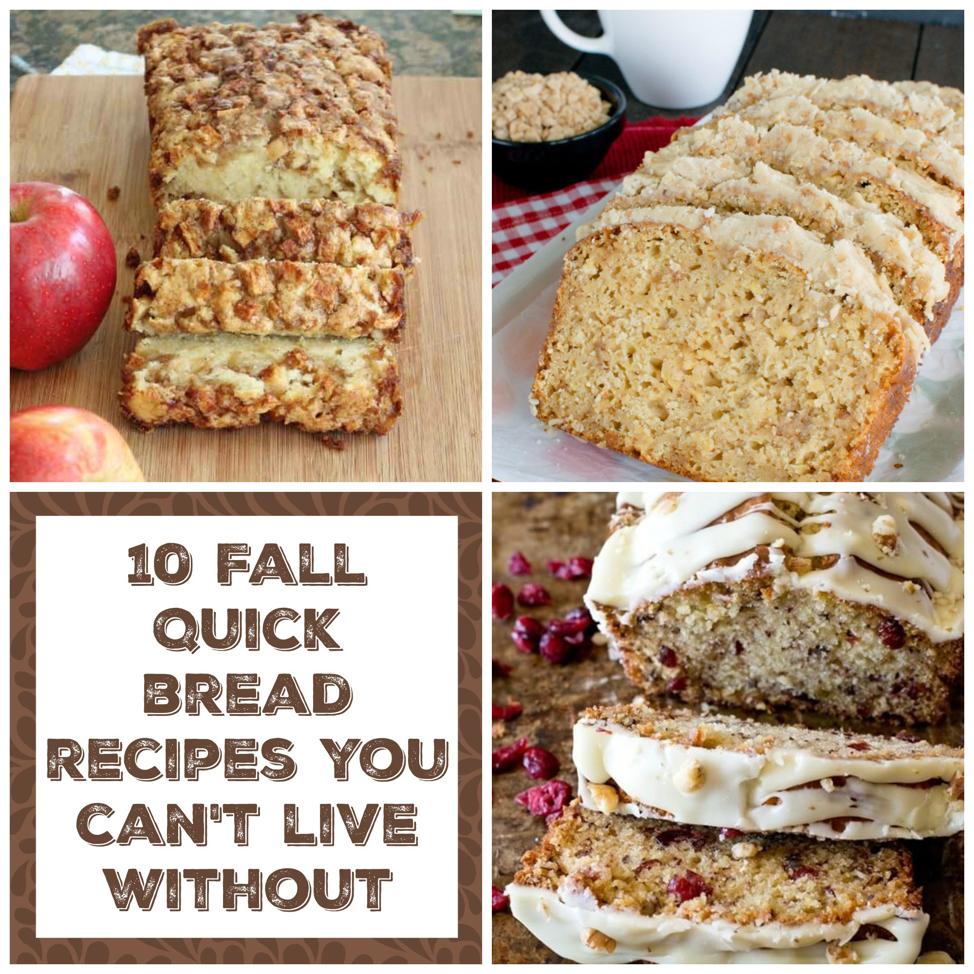 Fall Bread Recipes  10 Fall Quick Breads The Organized Mom